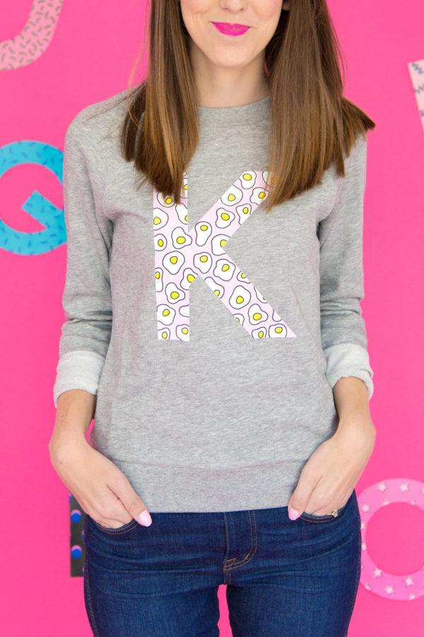 DIY Graphic Initial Sweatshirt