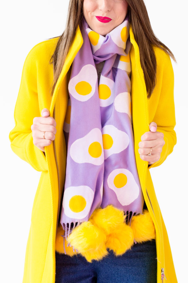 DIY Egg Patterned Scarf