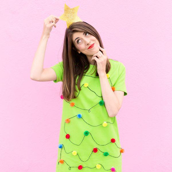 DIY Christmas Tree Dress
