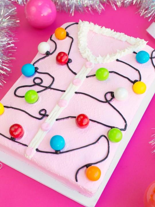 Ugly Christmas Sweater Cake!!!