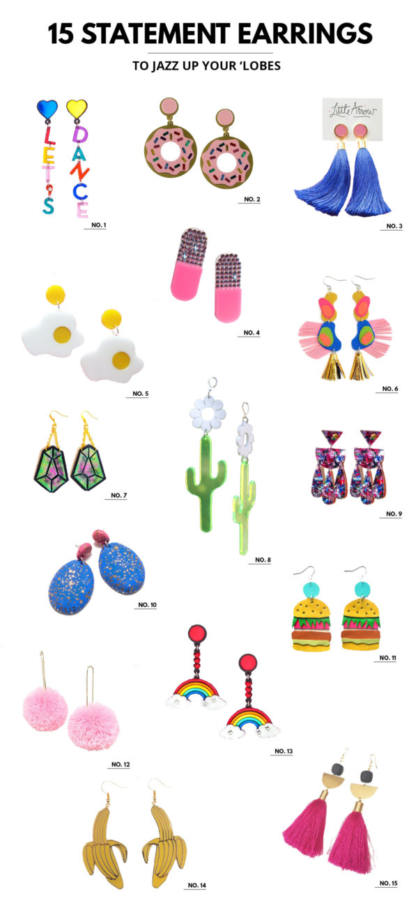 15 Colorful Statement Earrings