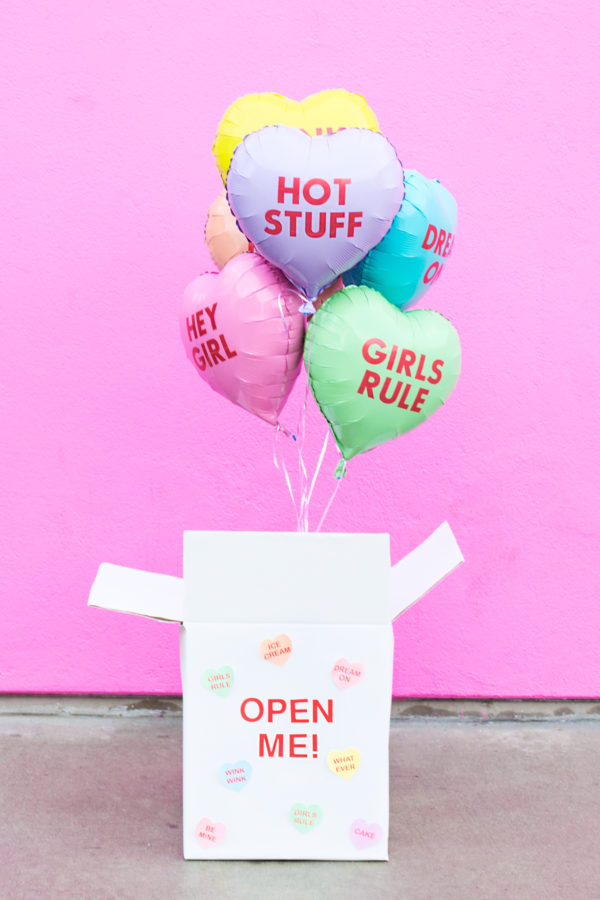 DIY Valentine Balloon Surprise Box