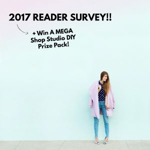 2017 Reader Survey (+ Win A MEGA Shop Studio DIY Prize Pack!!)