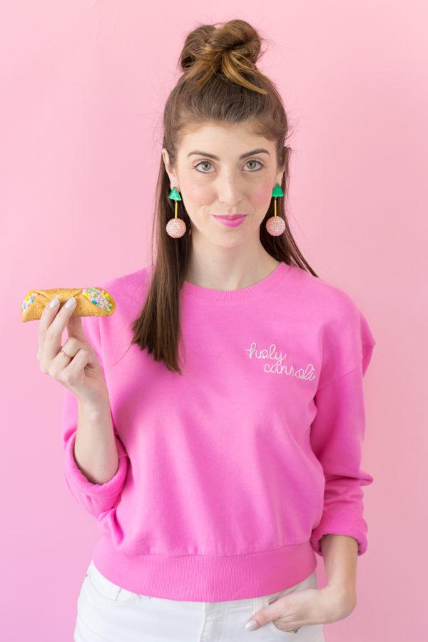 DIY Embroidered Sweatshirt
