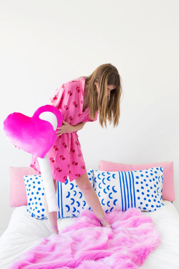 DIY Heart Lollipop Pillow