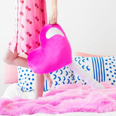 DIY Heart Lollipop Pillow