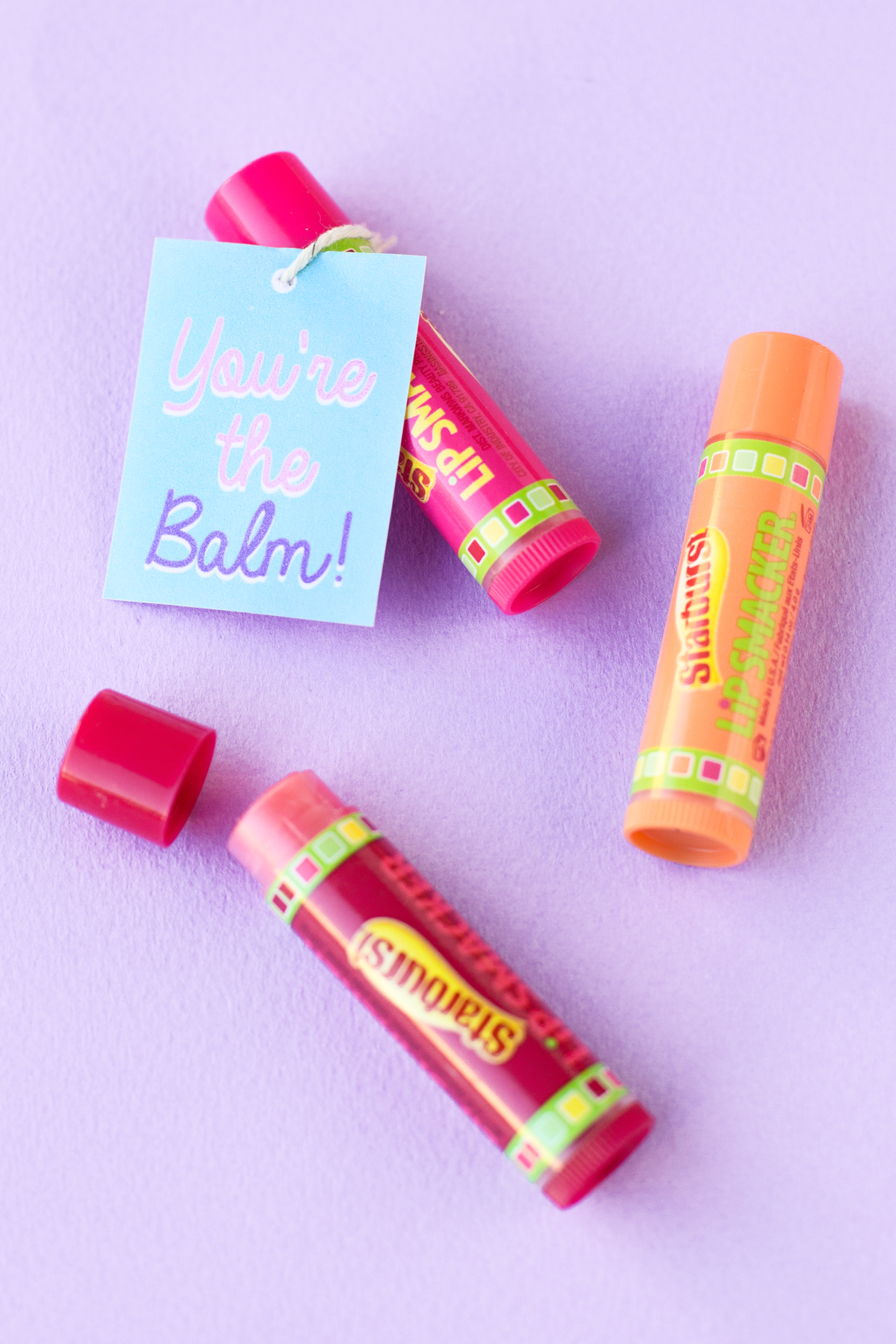 image regarding Starburst Valentine Printable referred to as Youre the Balm 5 Instant Totally free Printable Valentines