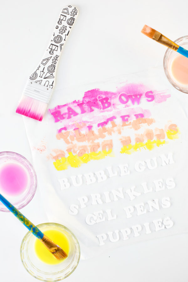 How To Dye Flocked Iron-on Letters