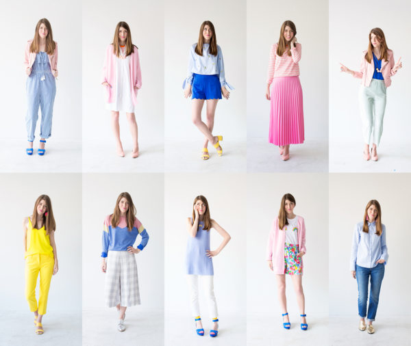 Colorful Spring Capsule Wardrobe