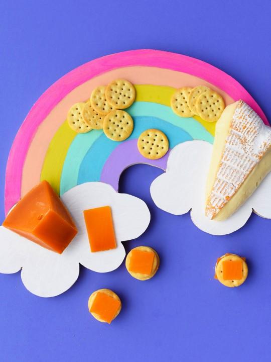 DIY Rainbow Cheese Board