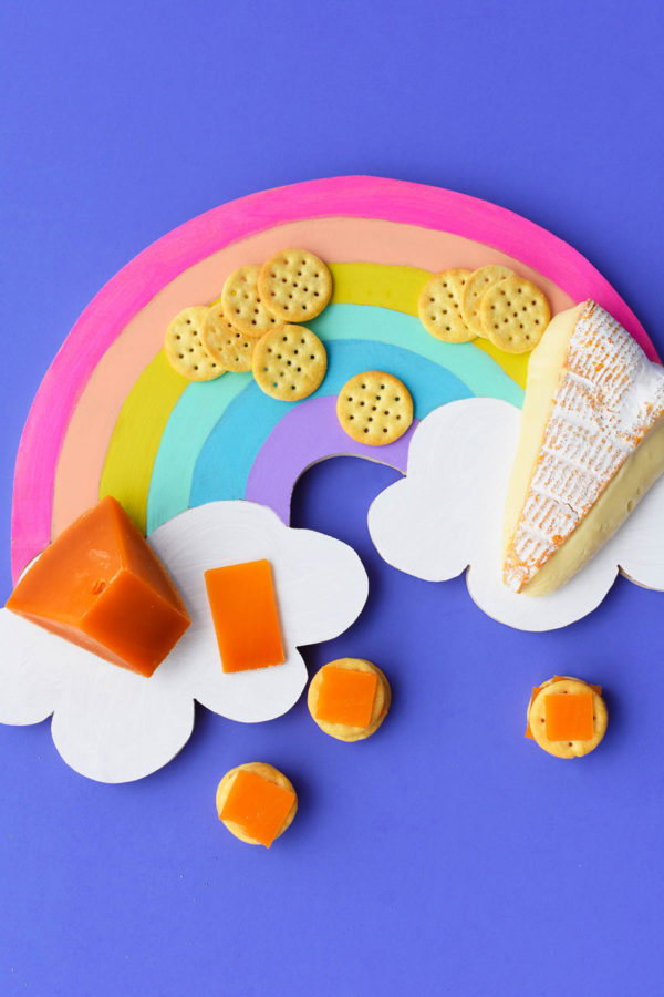 DIY Rainbow Cheese Board