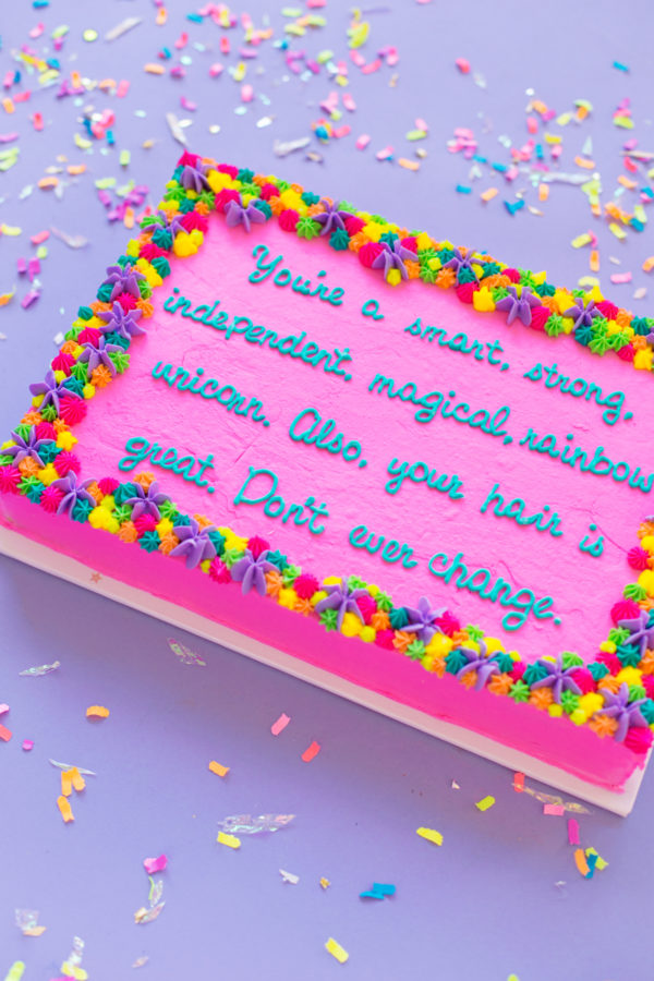 DIY Compliment Cakes