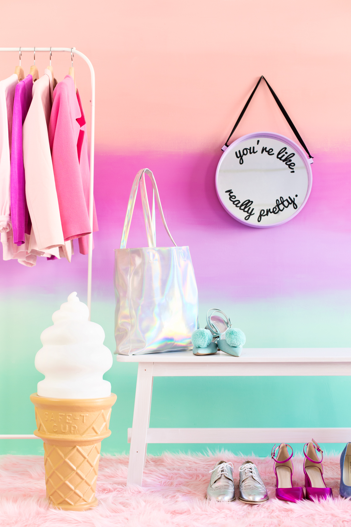 Diy Colorful Ombre Wall Studio Diy