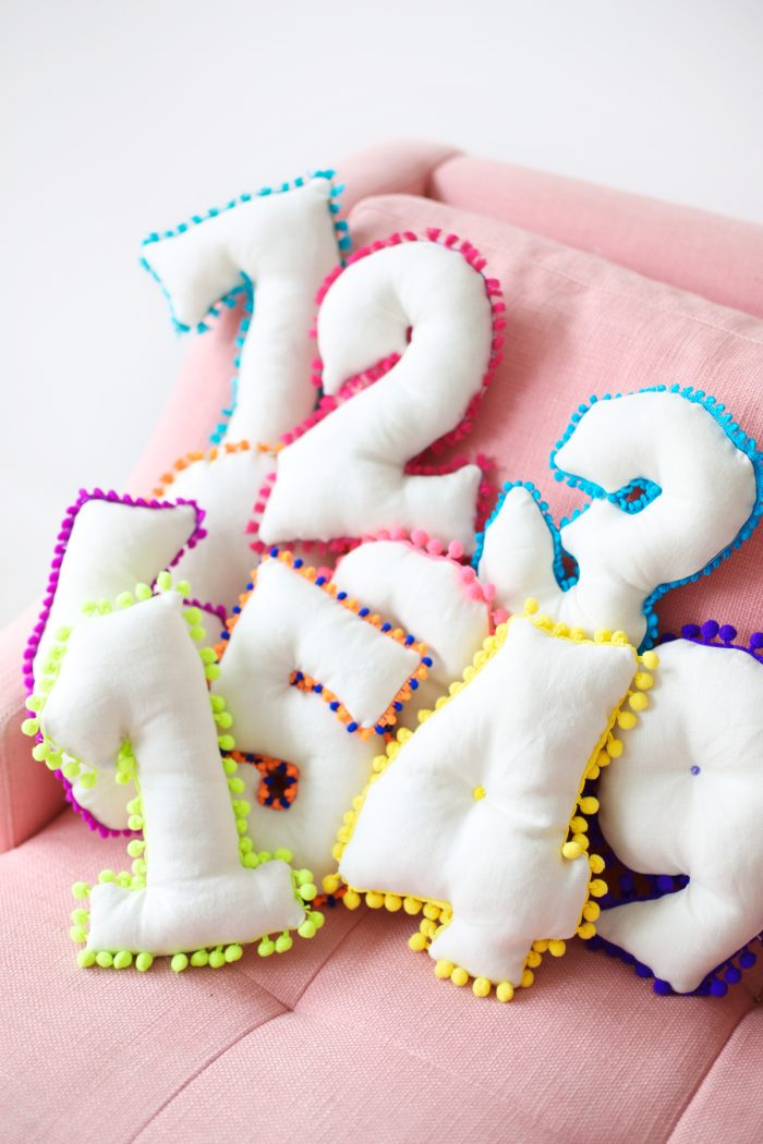 DIY Number Pillows