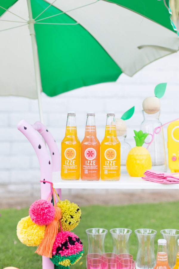 DIY Fruity Summer Bar Cart Makeover
