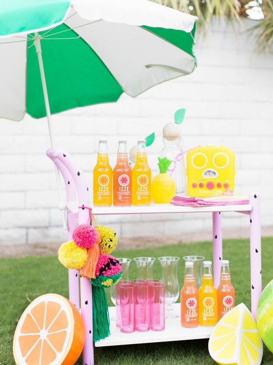 DIY Fruity Summer Bar Cart Makeover