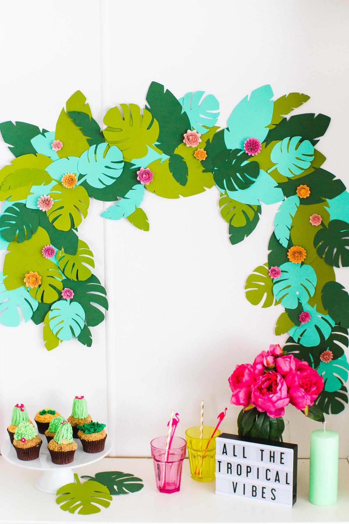 Diy Tropical Garland Studio Diy Find images of tropical leaves. diy tropical garland studio diy