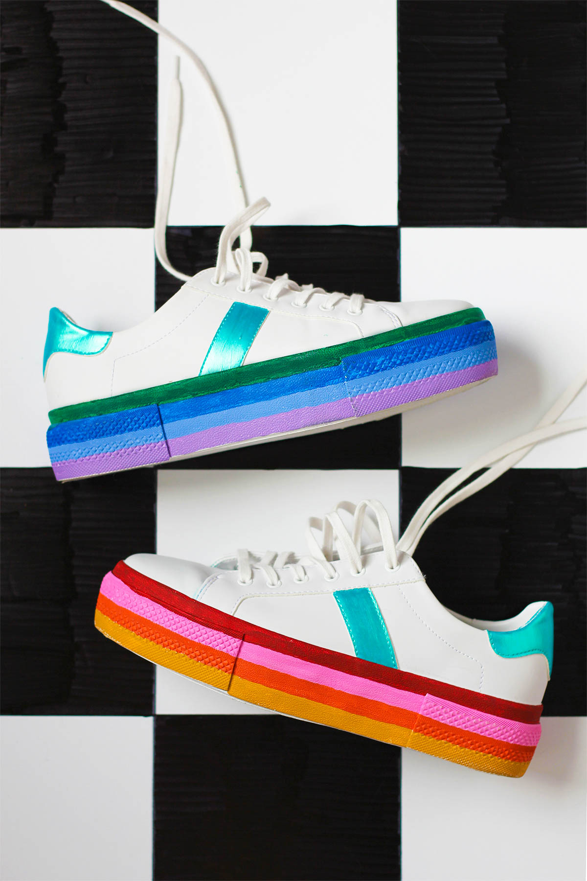 Diy Rainbow Platform Sneakers Studio Diy