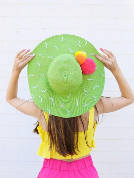 DIY Cactus Floppy Hat