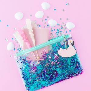 Can't Clutch This Reveal: Floating Glitter Clutch