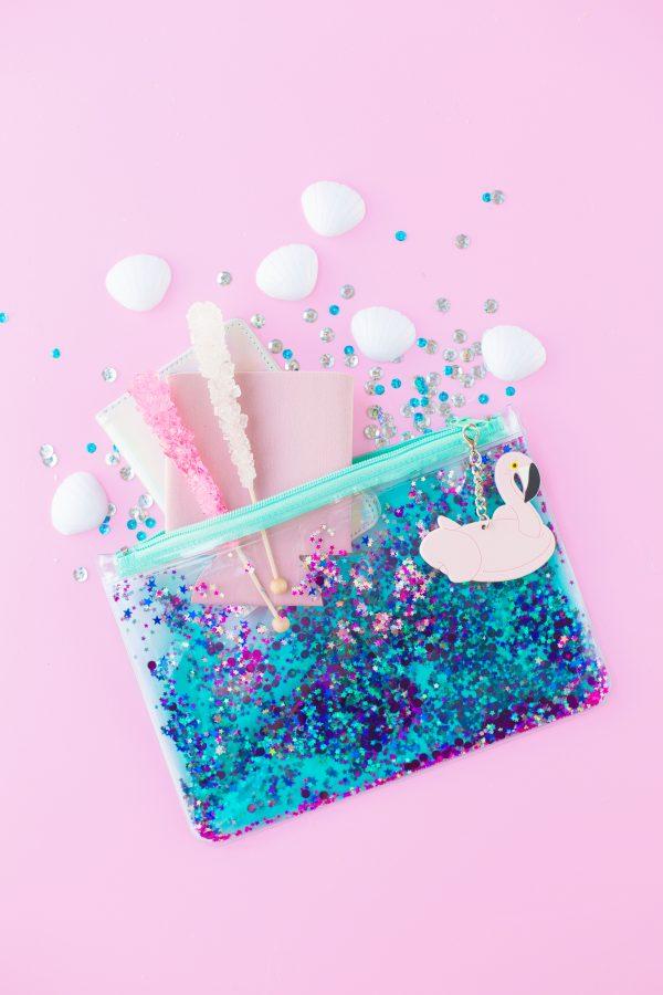 Floating Glitter Clutch