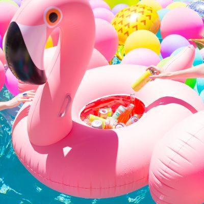 DIY Flamingo Float Cooler