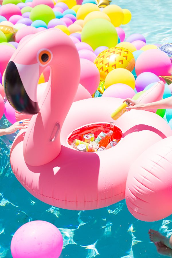 DIY Flamingo Float Cooler