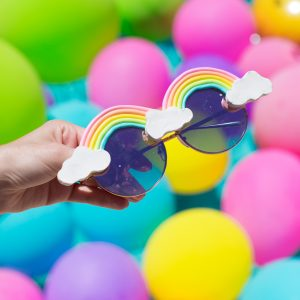 DIY Rainbow Sunglasses