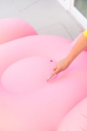 DIY Flamingo Pool Float Cooler
