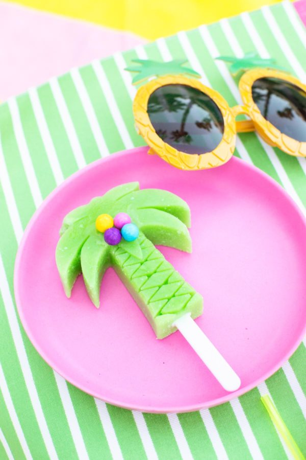 Tropical Gumball Popsicles