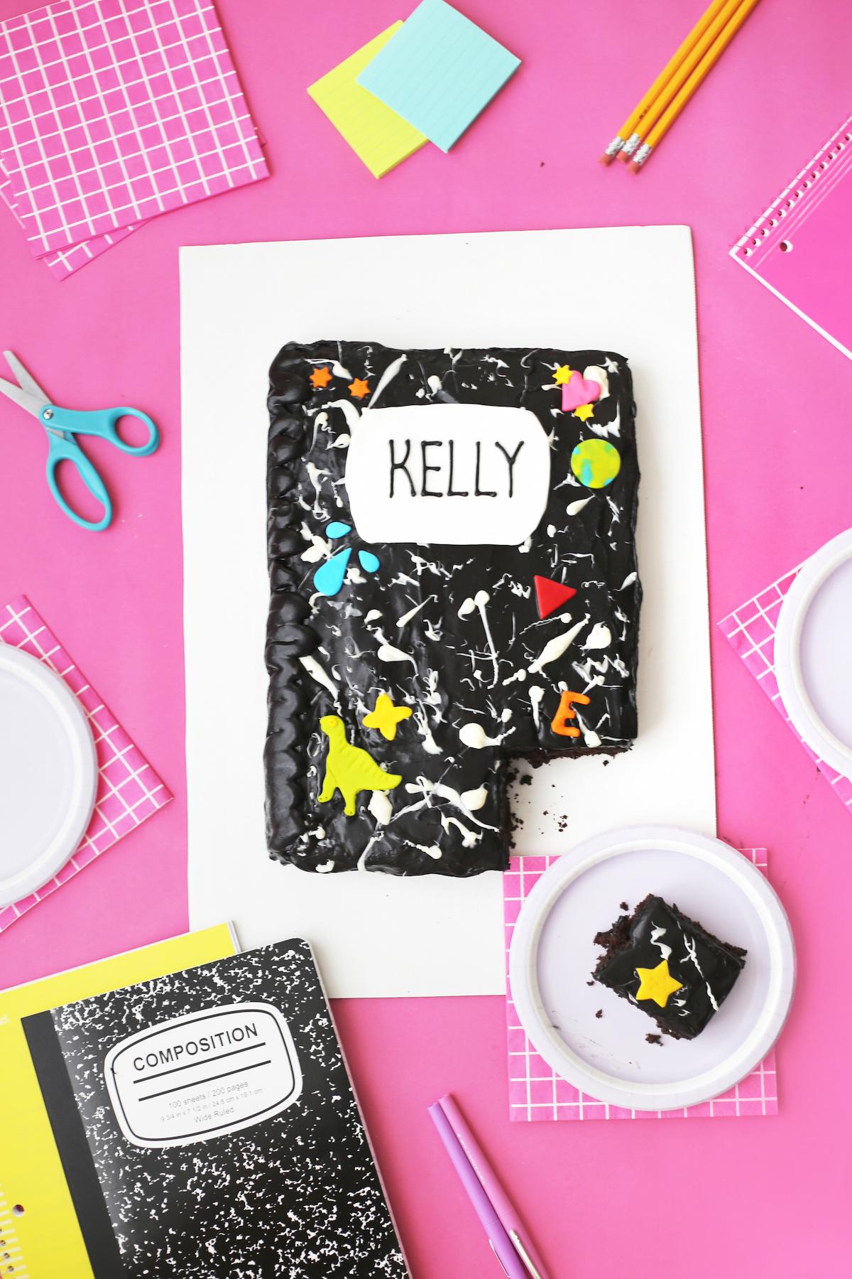 Diy marble notebook cake studio diy diy marble notebook cake arubaitofo Images