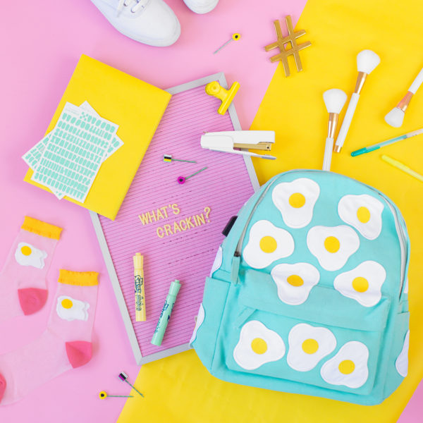 DIY Egg Print Backpack