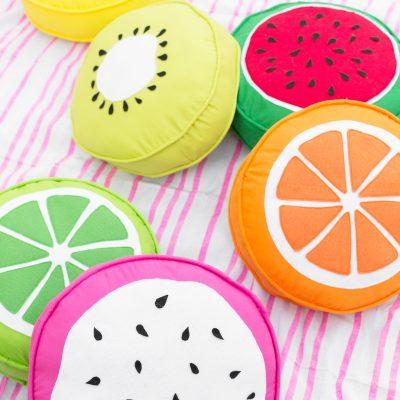 DIY Fruit Slice Pillows