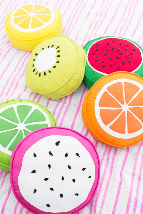 DIY Fruit Slice Pillows