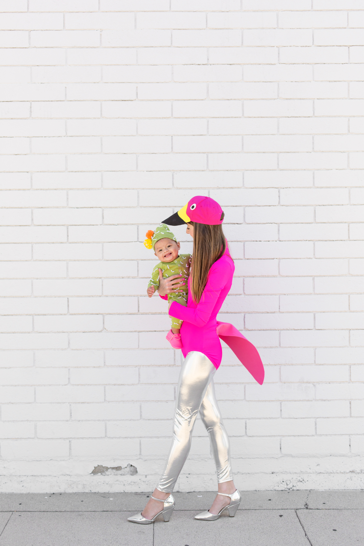 Diy Lawn Flamingo And Cactus Mommy And Me Costume Studio Diy