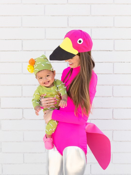 DIY Lawn Flamingo Costume + Cactus Baby Costume (+ A GIVEAWAY!!)
