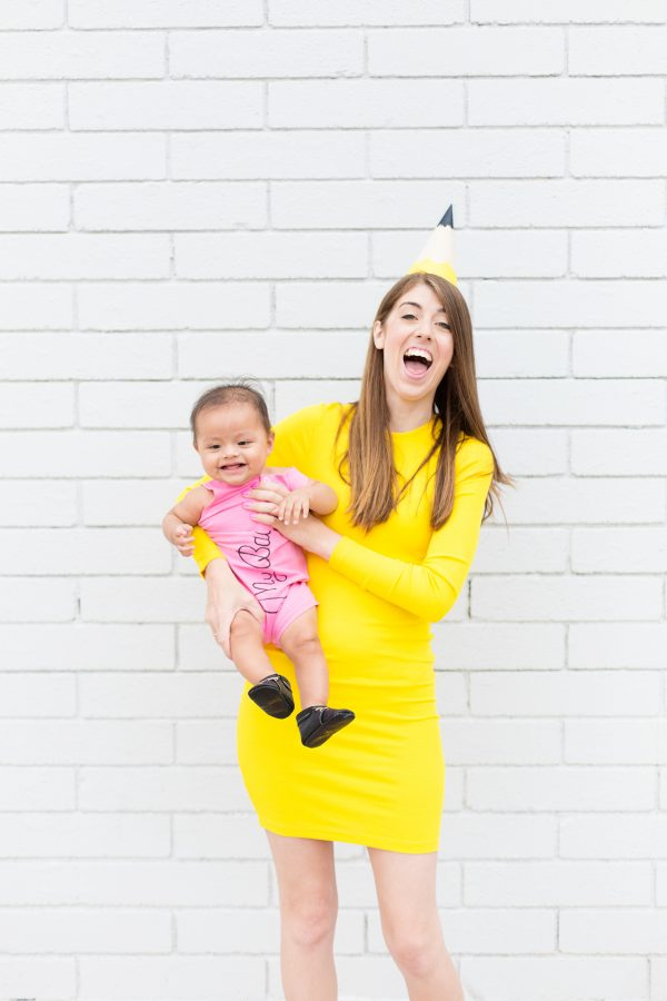DIY Pencil & Eraser Mommy and Me Costume