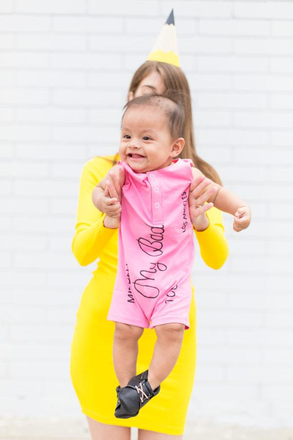 DIY Baby Eraser Costume