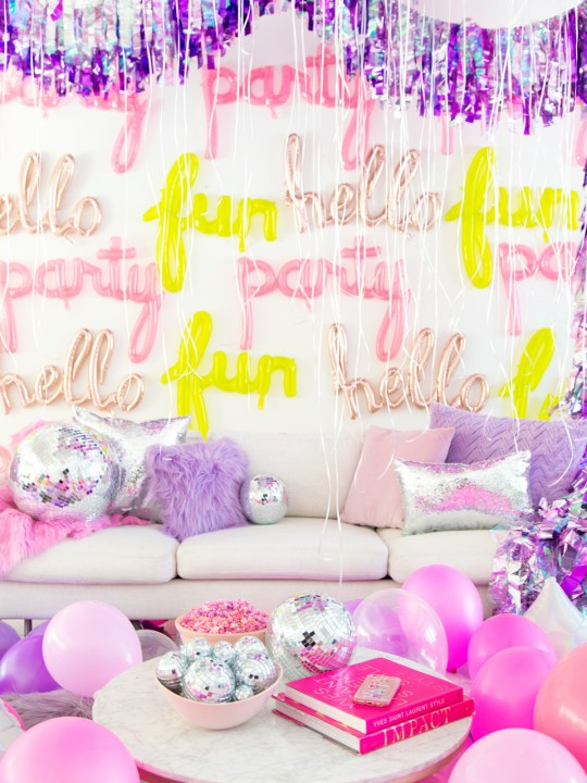 No Boys Allowed: A Holographic + Neon Slumber Party!