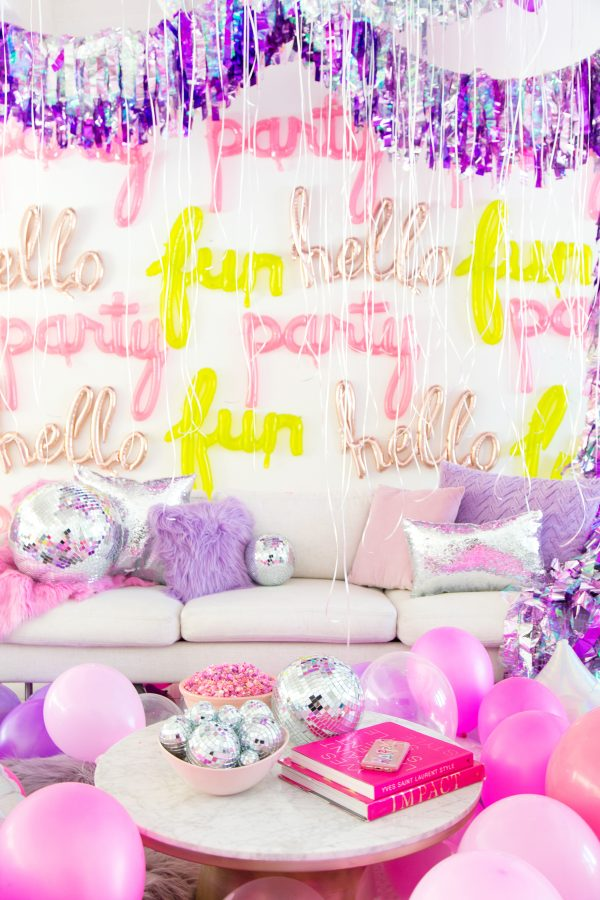DIY Script Balloon Wall