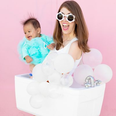 DIY Bubble Bath Family Costume