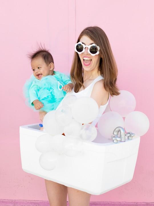 DIY Bubble Bath Family Costume