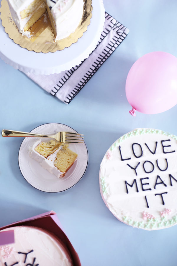 DIY Cross Stitch Cakes