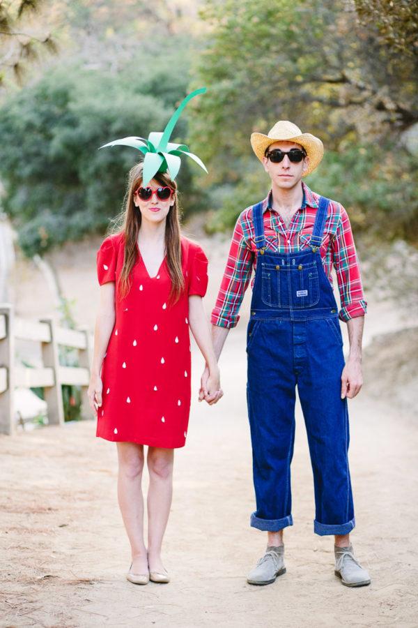 DIY Strawberry & Farmer Costumes
