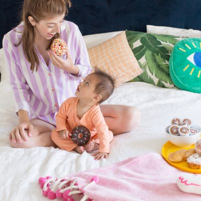DIY Donut Button Pajamas (+ Our New Weekend Morning Routine!)