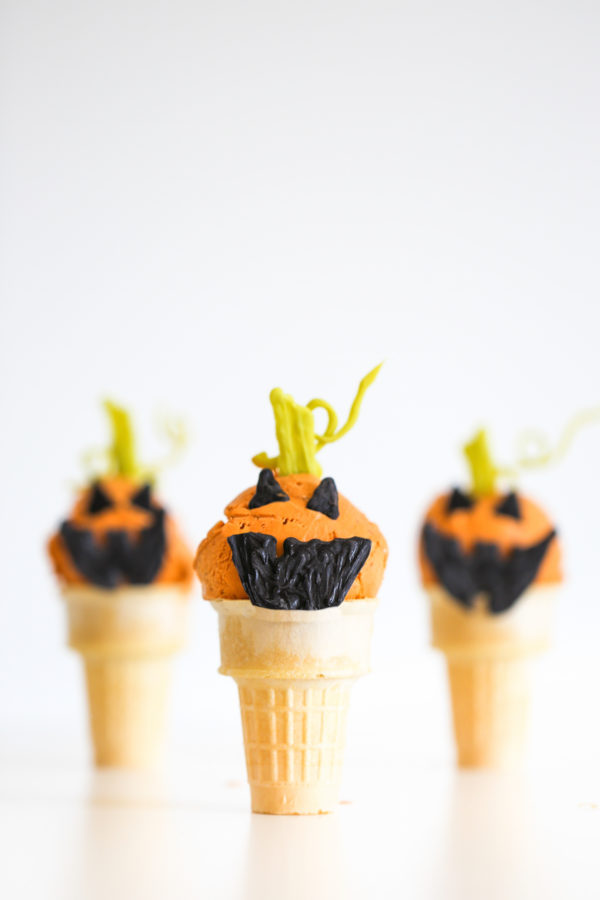 Jack O'Lantern Pumpkin Ice Cream