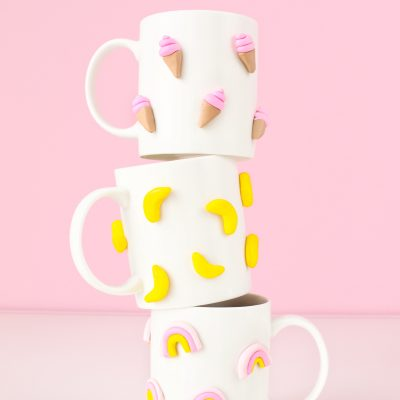 DIY 3D Graphic Clay Mugs