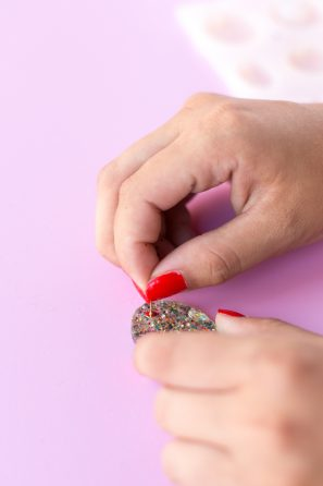 DIY Glitter Tassel Earrings