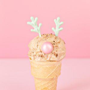 DIY Reindeer + Snowman Ice Cream Cones