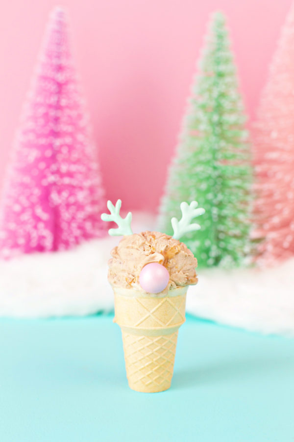 Reindeer Ice Cream Cone